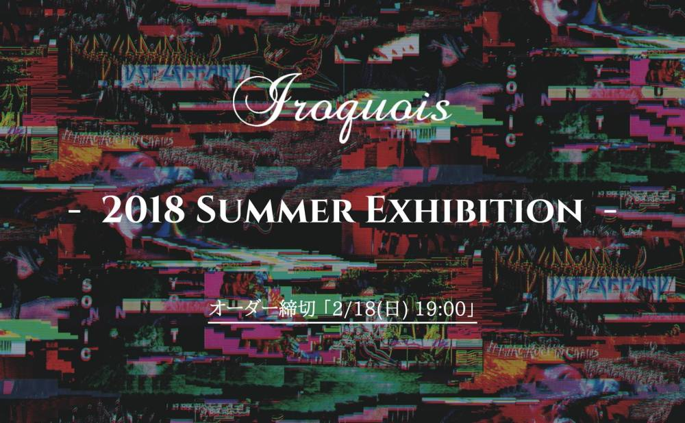 【iroquois】 2018 SUMMER Collection 先行予約受付開始!