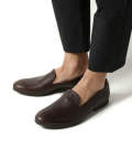WATER PROOF SHIRINK LEATHER / OPERA SLIP-ON SHOES ME823