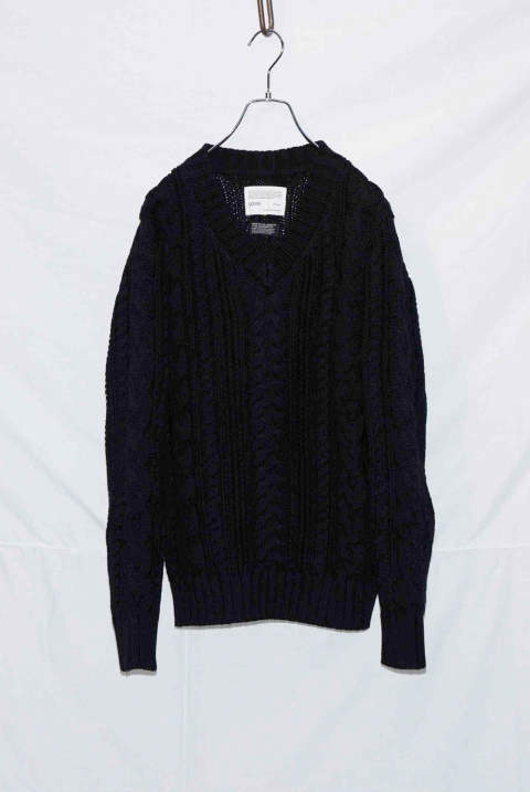 V-neck Cable Pullover NB036-CT01 (9月入荷予定)
