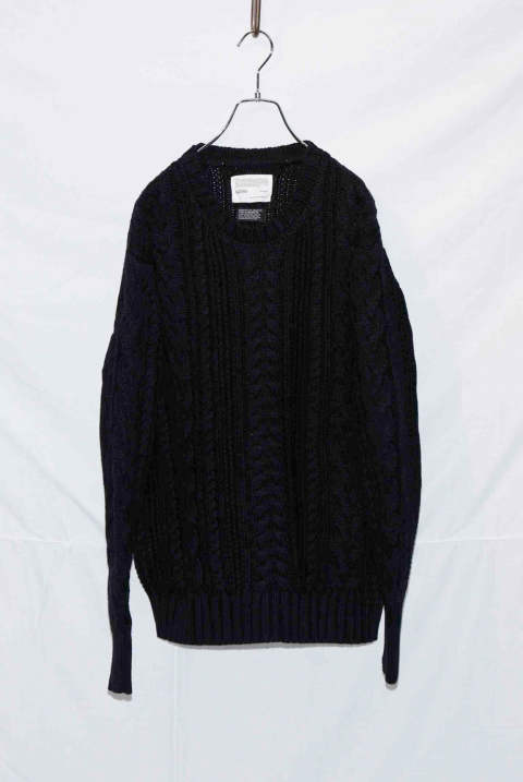 Crew neck Cable Pullover NB040-CT01 (10月入荷予定)