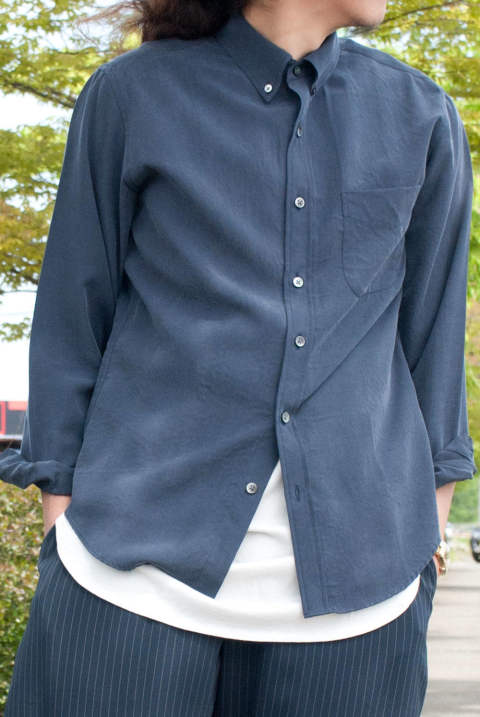 TENCEL 100% OZONE CRAFT / STANDARD BOTTON DOWN SHIRT M-7125