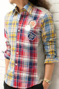 【ラスト1点-サイズ3】 【AKM × daboro】CRAZY CHECK SHIRTS DSH010-001