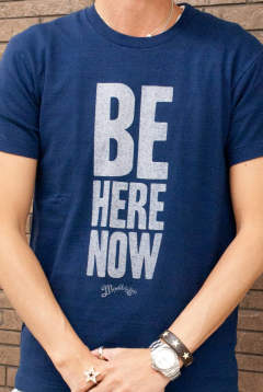 S/S Raffi Jersey T-Shirt #BE HERE NOW MCS-A1707