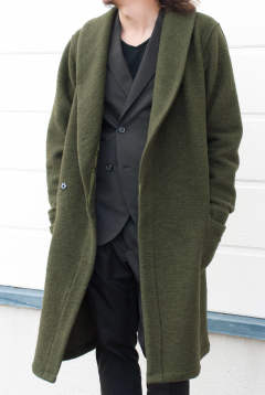 【ラスト1点-サイズ3】 WOOL JERSEY DRESSING GOWN 1051720001