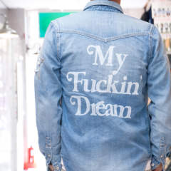 【M×Marbles】 DENIM SHIRT (My Fuckin' Dream) / バックプリント デニムシャツ / MSH-A17MM01