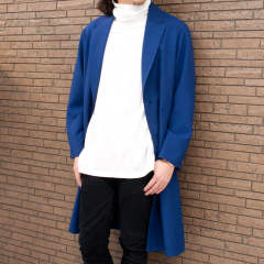 RETORO POLYESTER OXFORD / WIDE SILHOUTTE LONG COAT / ワイドシルエットロングコート M-18111