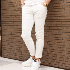 tight knit-denim pants USED 5823 dj16i