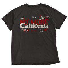 PIGMENT DYED JERSEY T-SHIRT #NO MORE CALIFORNIA / プリントTシャツ / MST-S18SP02