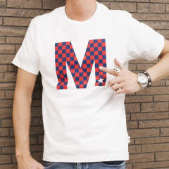 crew neck t-shirts (checker) 18SS-MST001