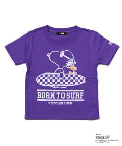 PEANUTS×TMT KIDS TEE(BORN TO SURF) / キッズTシャツ TKC-S18PN01