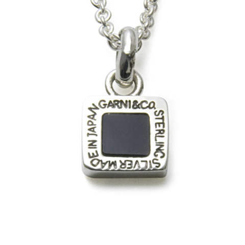 Square Onyx Pendant - S / スクエア オニキス ペンダント GN16066
