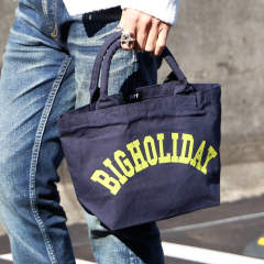 PIPEHANDLE CANVAS MINI BAG(BIGHOLIDAY)/キャンバスミニトートバッグ TBA-F18SP03