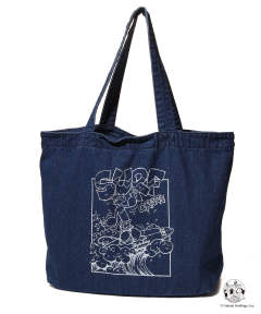 POPEYE×TMT DENIM TOTEBAG (SURF CRAZY) / デニムトートバッグ TBA-S19PE02