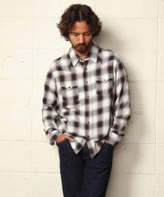 RAYON TWILL OMBRE CHECK SHIRTS / オンブレーチェックシャツ TSH-S1906