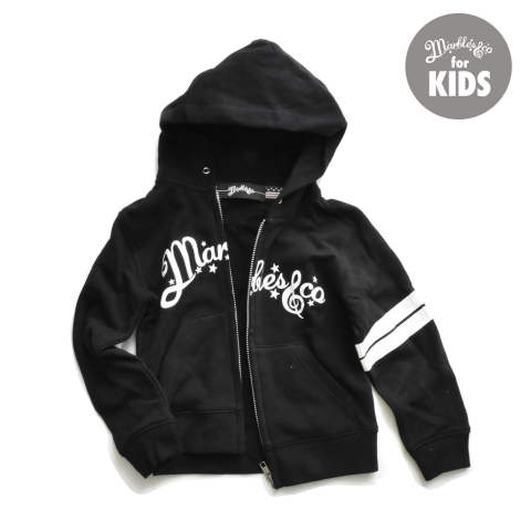 NEO-LOGO BORDER ZIP UP HOODIE for KIDS / ジップアップパーカー キッズ