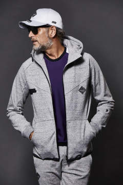 "[3D-TECH WEAR] FULL ZIP PARKA ""GREY SWEAT"" / フルジップパーカー FV115-CPU001"