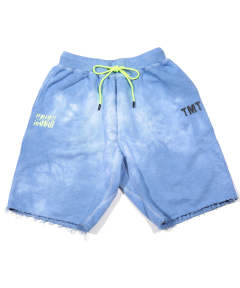 【15店舗限定】 INDIGO HAND-DYED SWEAT SHORTS(BORN IN HAWAII) / スウェットショーツ TSP-S19SP03