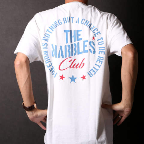 "S/S TEE ""THE MARBLES CLUB'' / クルーネック 半袖プリントTシャツ MST-S19SP17"