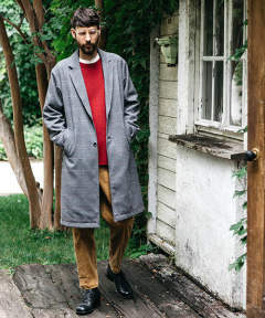 TECH TWEED CHECK / WIDE SILHOUTTERELAX CHESTER COAT M-19347