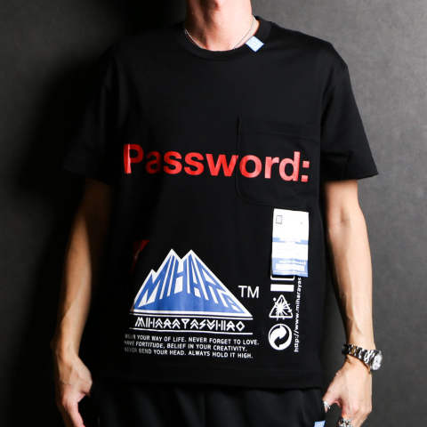 Password: printed T-shirt / プリントTシャツ / A04TS702